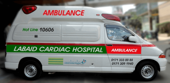 ambulance services list dhaka